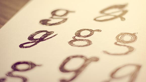 Roughs e decisões sobre a tipografia.